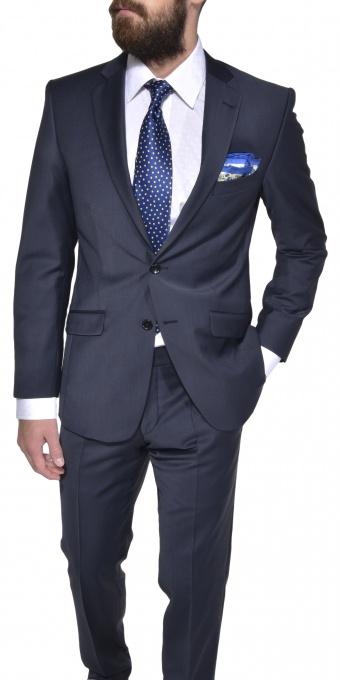 Tmavomodrý Slim Fit oblek