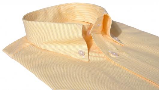 Žĺta Slim Fit košeľa s krátkym rukávom