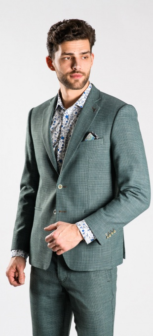 Green summer blazer