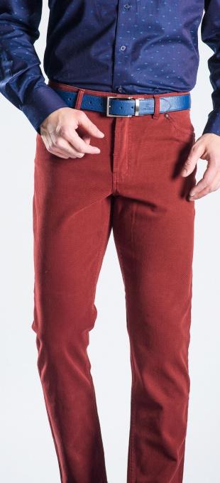 Bordové voľnočasové nohavice