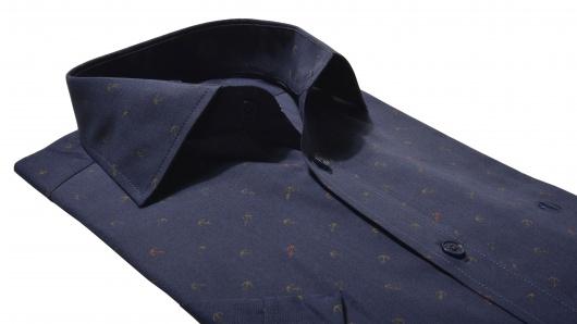 Dark blue Extra Slim short sleeved shirt