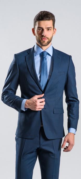 Modrý Slim Fit oblek - XL