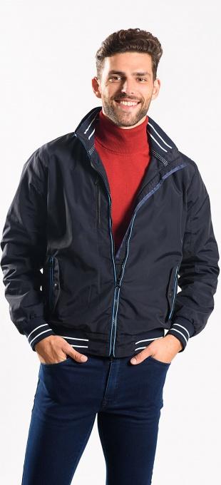 Tmavomodrá prechodná bunda