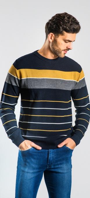 Prúžkovaný pulóver