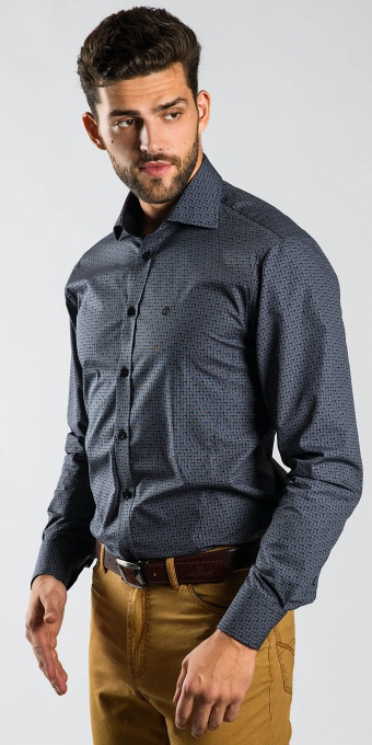 Grey casual Extra Slim Fit shirt