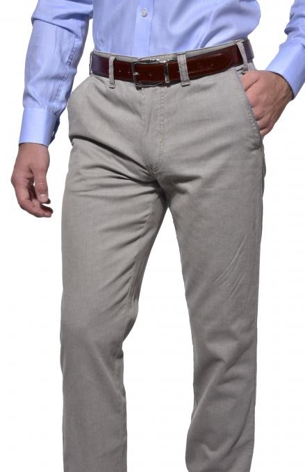 Šedé chinos nohavice