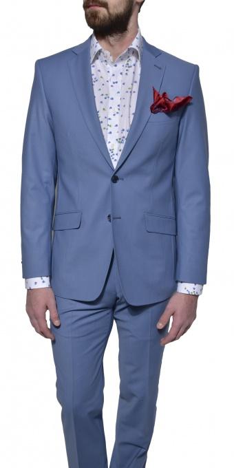 Bledomodrý Slim Fit oblek