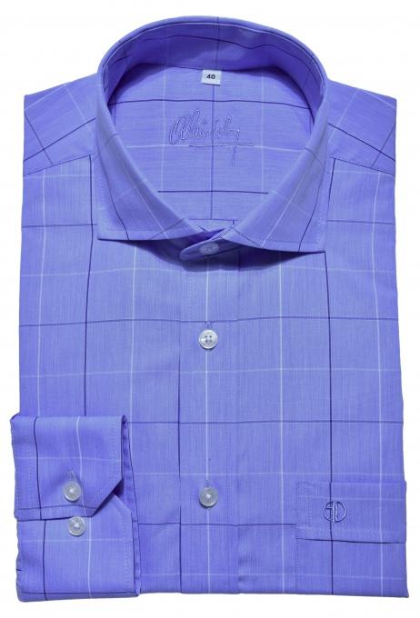 Blue Slim Fit checkered shirt