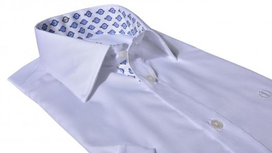 Biela Extra Slim Fit košeľa s krátkym rukávom