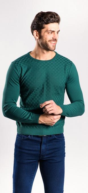 Zelený pulóver