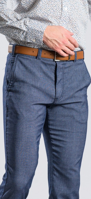 Grey-blue casual chinos