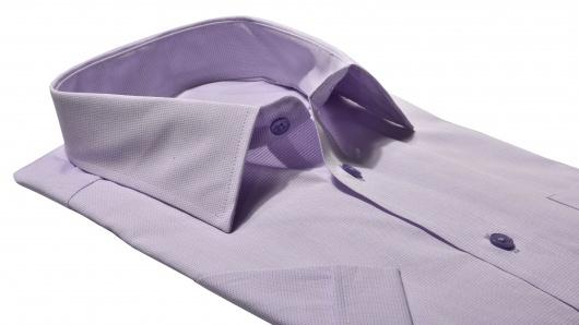 Fialová Classic Fit košeľa s krátkym rukávom