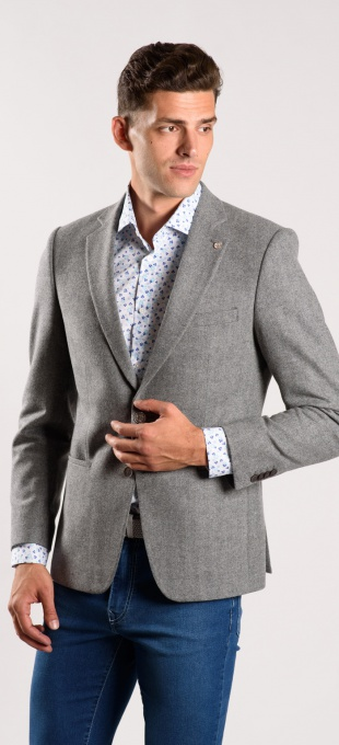Grey wool blazer - Basic line