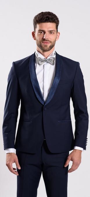 Blue wedding suit jacket