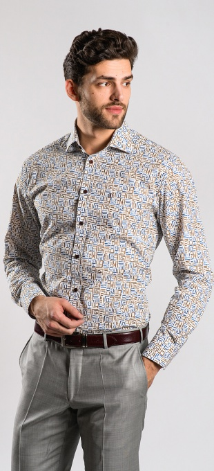 Bold casual Classic Fit shirt