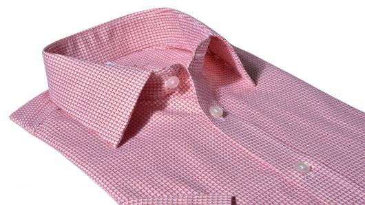 Červená Slim Fit košeľa s krátkym rukávom
