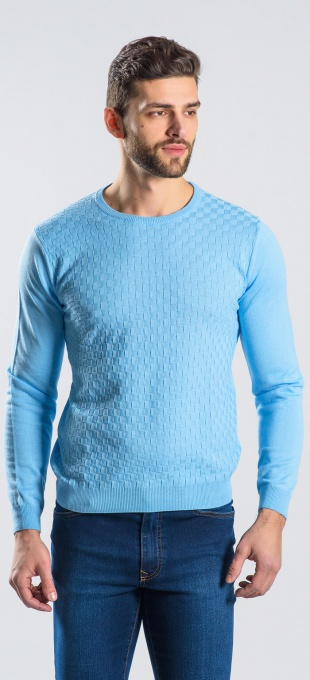 Light blue cotton crewneck