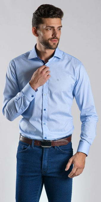 Blue Extra Slim Fit business shirt