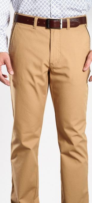 Bledohnedé bavlnené nohavice