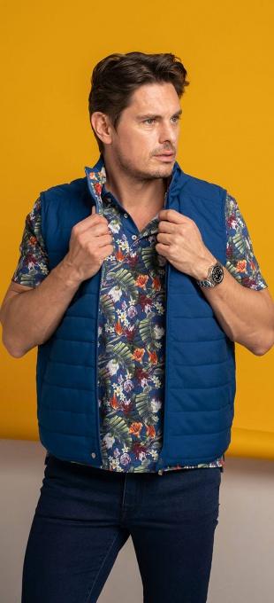 Blue casual vest