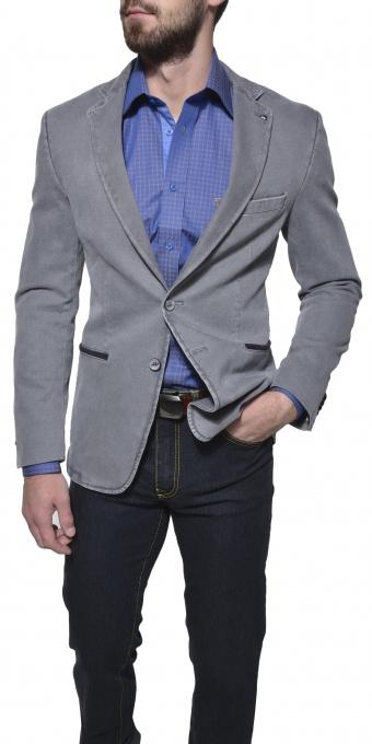 Grey cotton blazer