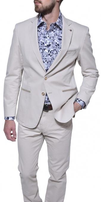 Khaki cotton blazer