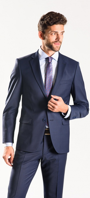 Dark blue Slim Fit suit