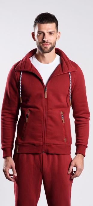 Burgundy zip sweatshirt
