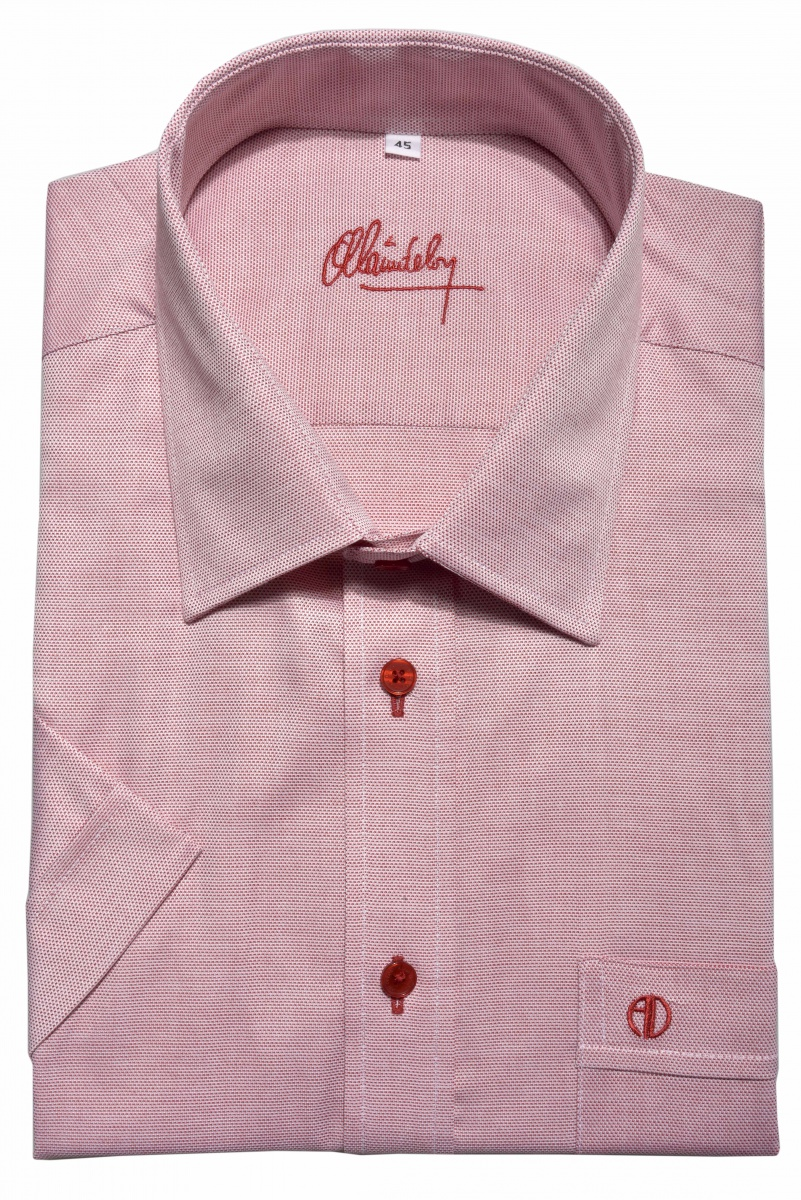 Red Classic Fit short sleeved shirt