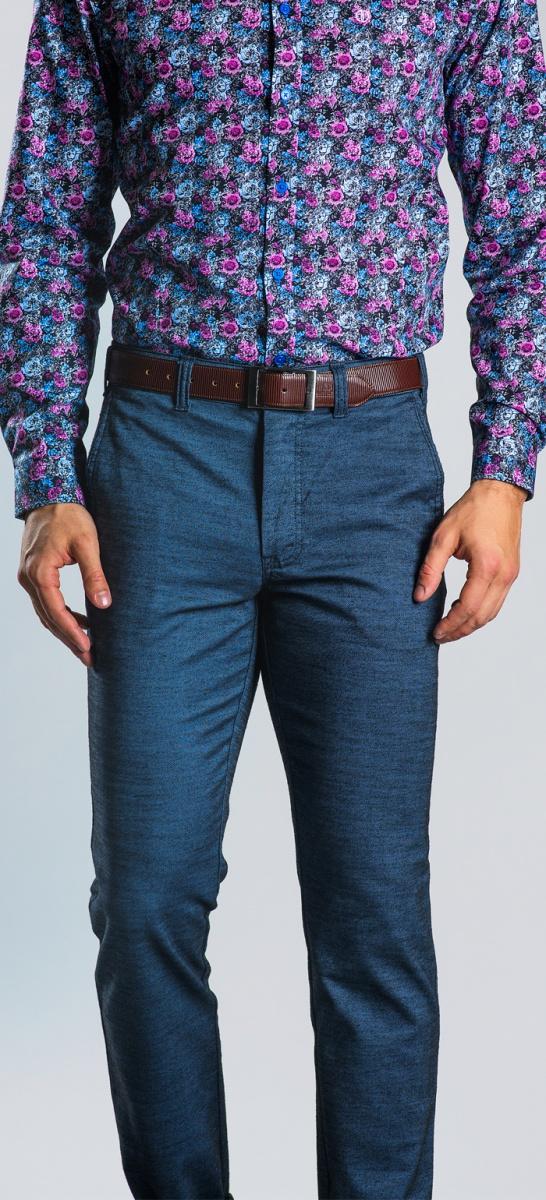Šedo-modré chinos nohavice