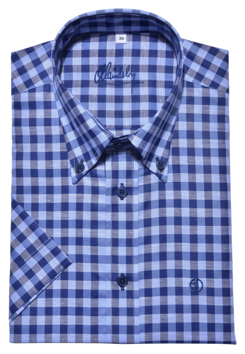 Blue Slim Fit short sleeved shirt