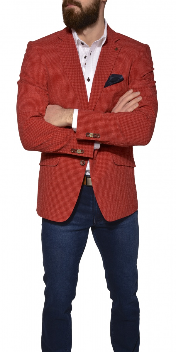 Red casual blazer