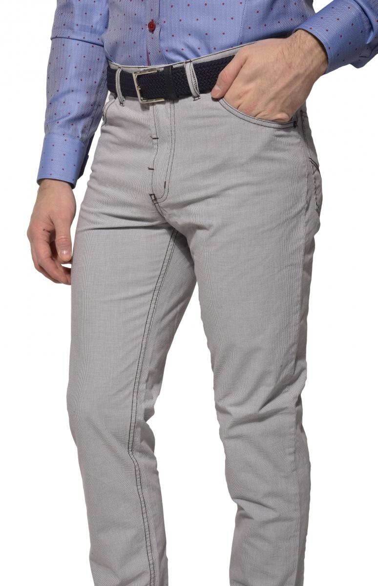 Sivo-hnedé voľnočasové nohavice