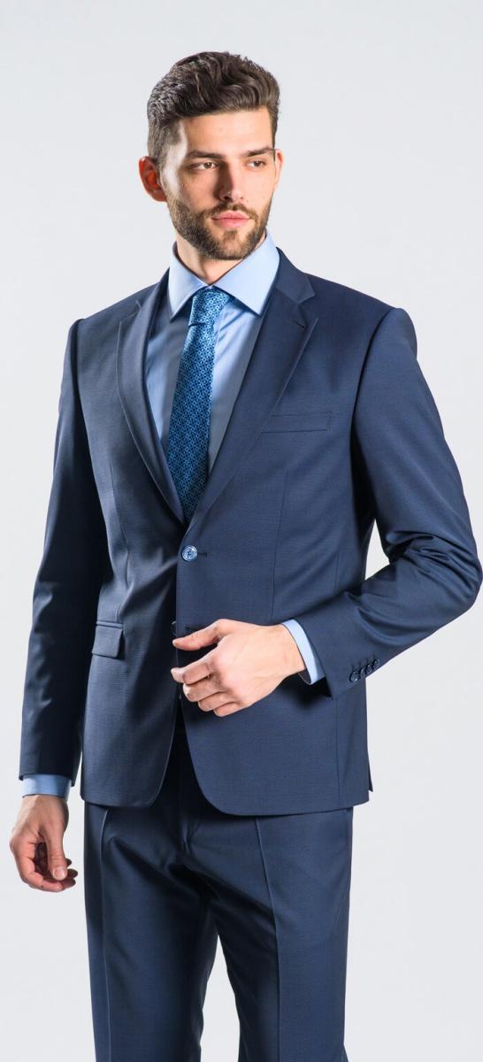 Modrý Slim Fit oblek XL