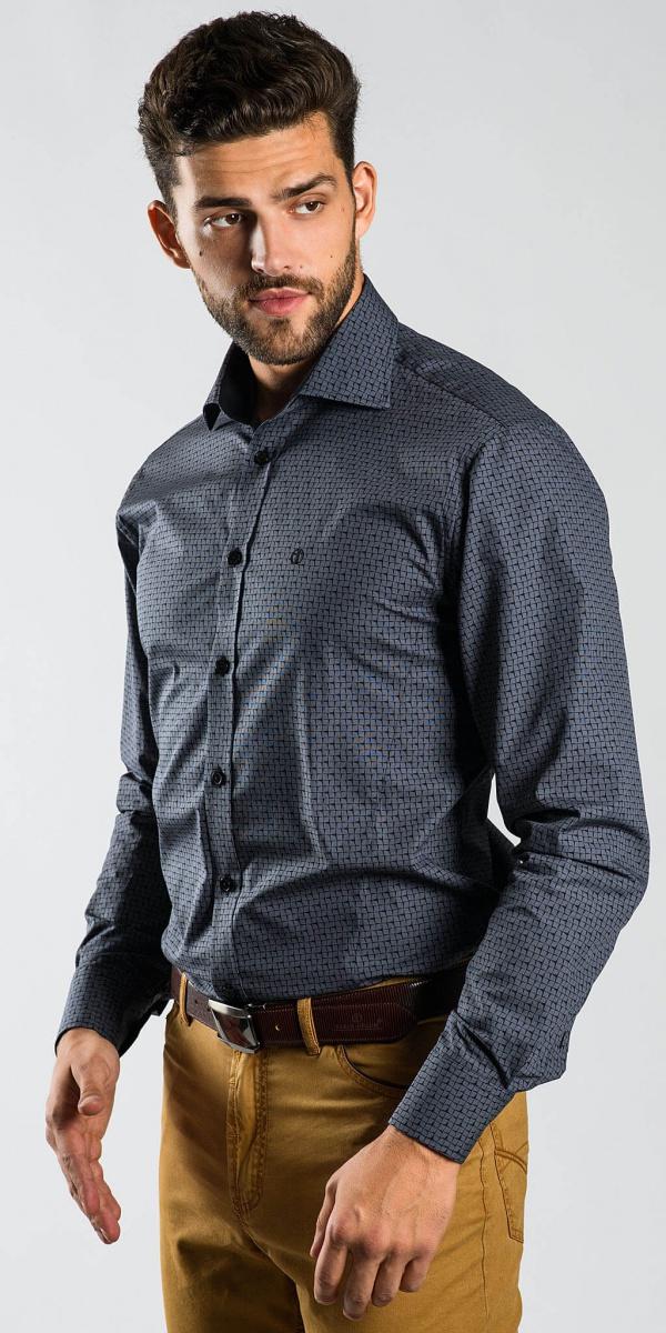 Šedá voľnočasová Extra Slim Fit košeľa