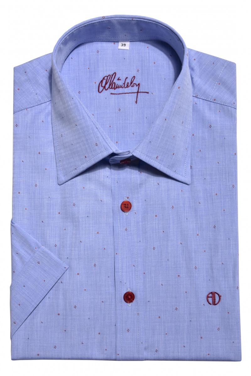 Blue casual short sleeved shirt