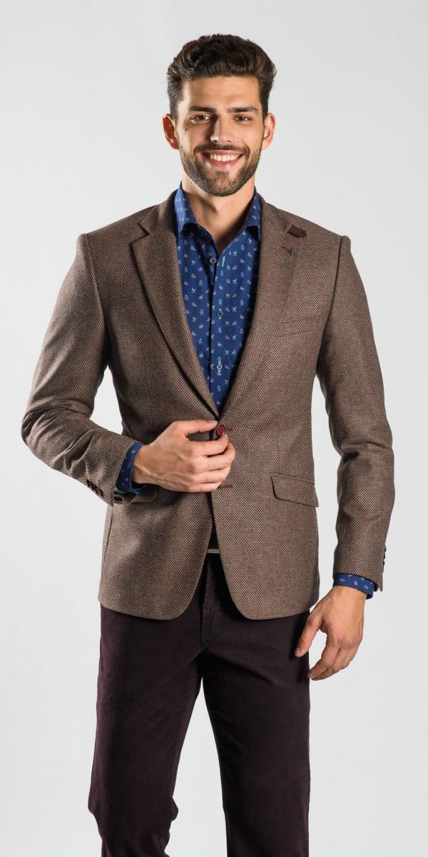 Hnedé vlnené sako
