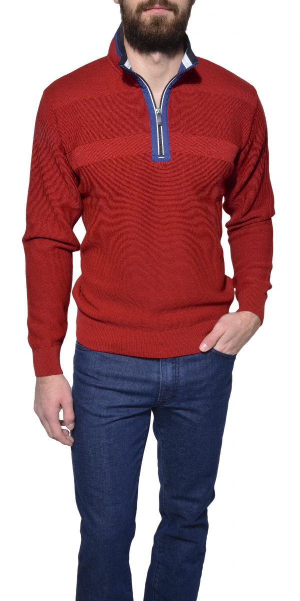 Red casual pullover