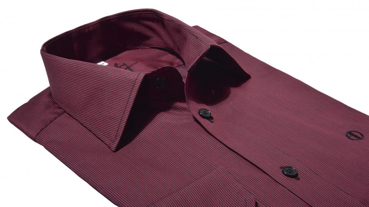 Bordová voľnočasová Extra Slim Fit košeľa