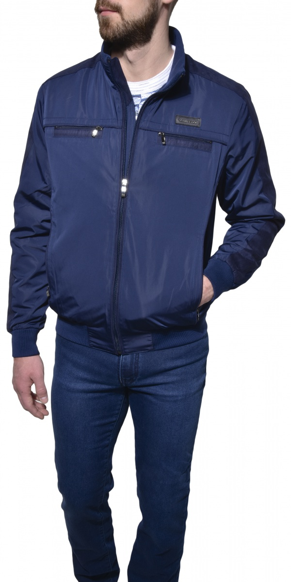 Modrá športová bunda