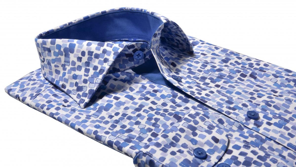 Modrá Classic Fit voľnočasová košeľa