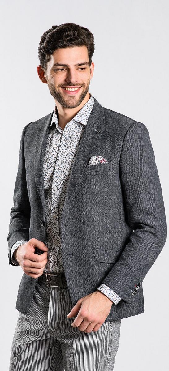Sivé letné sako rady Basic