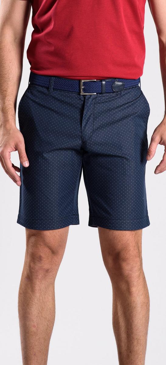 Tmavomodré krátke nohavice